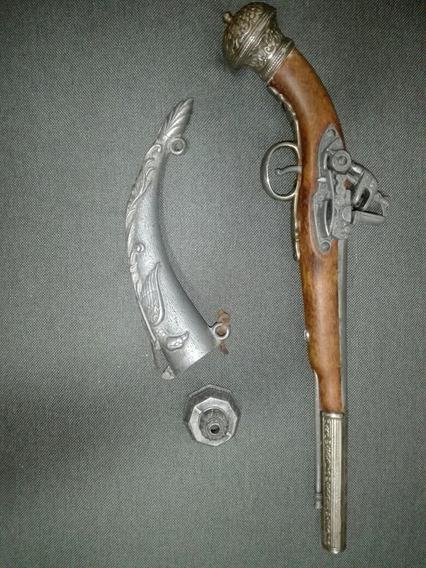 Pistola Y Polvorera De Avancarga (adorno)