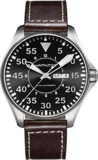 Reloj Hamilton H64715535 Khaki Pilot Aviation Aut Ag.oficial
