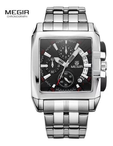 Relógio Masculino Cronógrafo Aço Inoxidável