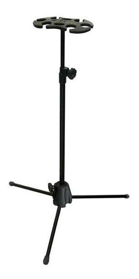 Pedestal Suporte Descanso Saty 6 Microfones Com Ou Sem Fio