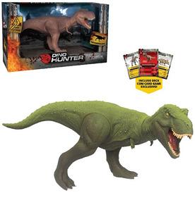 Dinossauro Tiranossauro Dino Hunter Colors Com Card Na Caixa