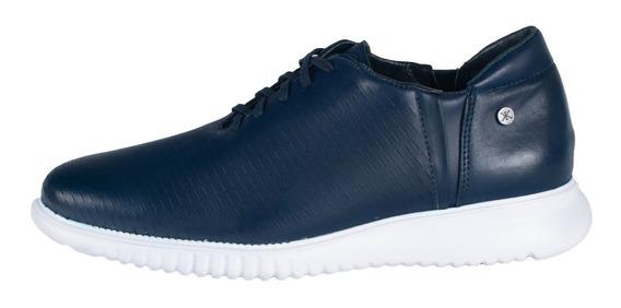 Zapatos De Piel Azul Suela Ultraligera Karosso Kasual 2609