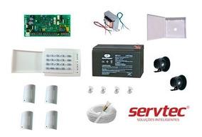 Kit Alarme Paradox Sp4000 Com 4 Sensores Pro Plus