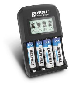Carregador Pilha Ni-mh/cd Aa Aaa Bateria Inteligente Visor
