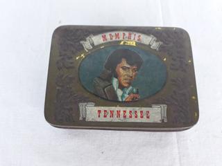 Elvis Presley Lata Oficial Antiga Memorabilia