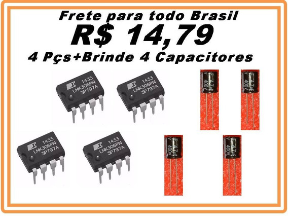 Ci Lnk306pn Lnk 306pn 4pçs + Brinde 4 Capacitor Promoção