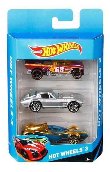 Hot Wheels Pack X3 Vehiculos K5904