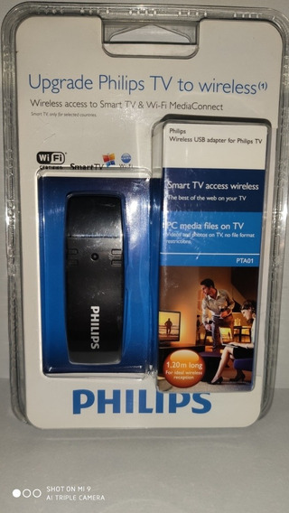 Adaptador Wireless Pta01 Usb P/ Tvs Philips E Pc Windows