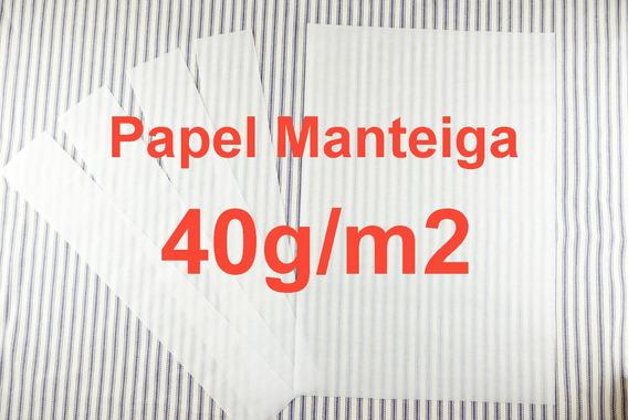 400 Folhas Papel Manteiga 40g Especial 50x70 Forma Forminhas