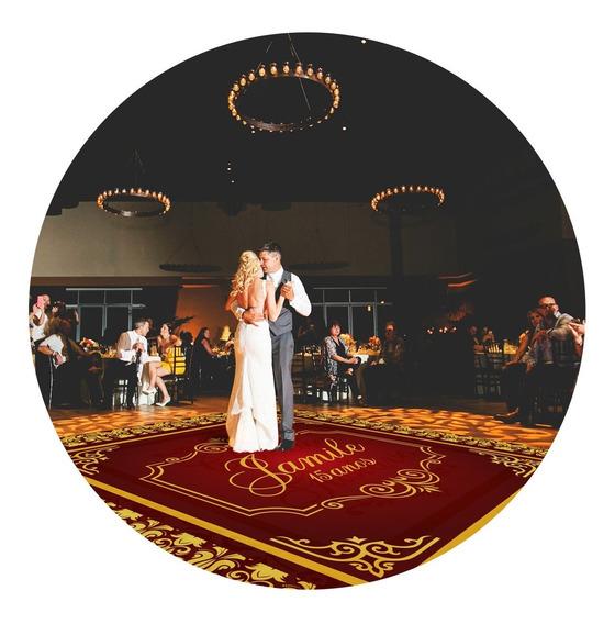 Pista De Dança Aniversário 15 Anos Dourado Vinho Db22 - 2x2m