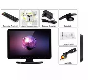 Mini Monitor Aceita Receptor De Tv Dvd Pc Dvr 15,4 Polegadas