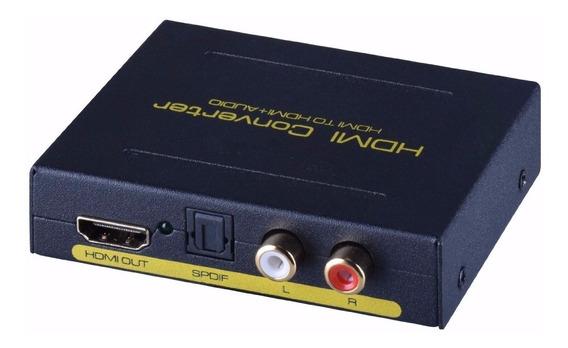 Extrator Audio Hdmi Digital 5.1 Spdif Rca Hd Tv Caixa Som Pc