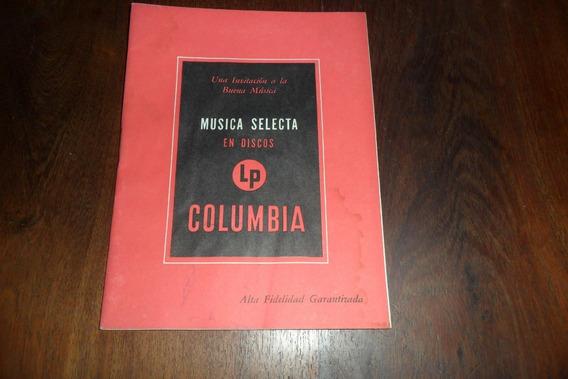 Musica Selecta Discos Columbia Vinilo 1957