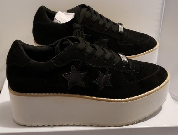 Zapatos Zapatillas Tacones Tenis Steve Madden Negro Platafor