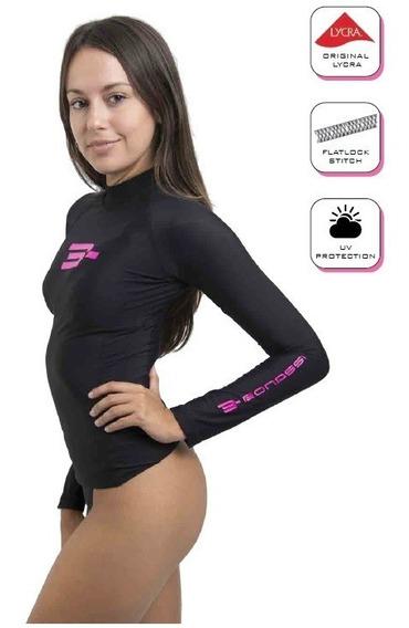 Playera Acuatica ( Rash Guard ) Dama Bonassi Talla L