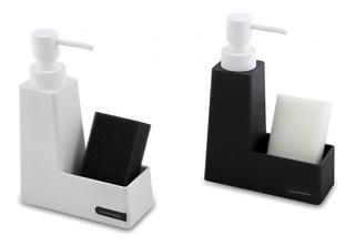 Dispenser De Jabón Liquido Cocina Con Porta Esponja