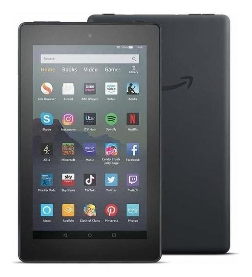 """Tablet Amazon Fire 7 KFMUWI 7"""" 32GB black com memória RAM 1GB"""