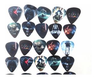 Combo 10 Palhetas Sortidas Star Wars Para Guitarra E Violão