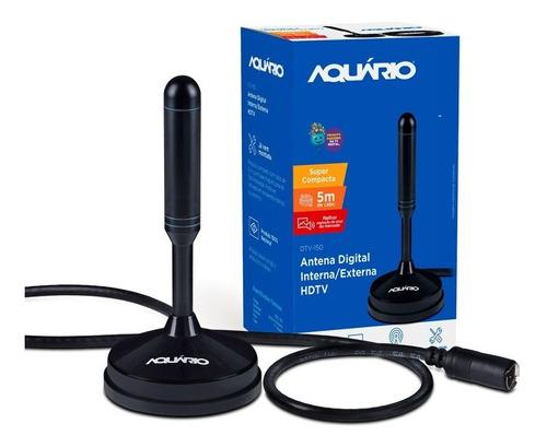 Antena Tv Digital Hdtv Dtv-150 Aquario Cabo 5 Metros Nfe