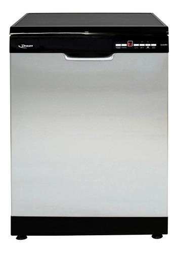 Imagen 1 de 6 de Lavavajillas Drean Dish 15.2 DT de 15 cubiertos acero inoxidable y negro 220V