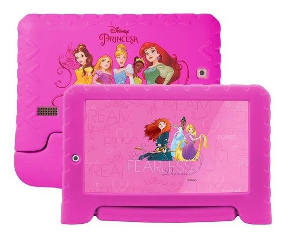 Tablet Disney Princesas Multilaser Rosa Meninas Com Capa