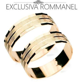 Par Alianca Rommanel Com Bordas Diamantadas Promoção
