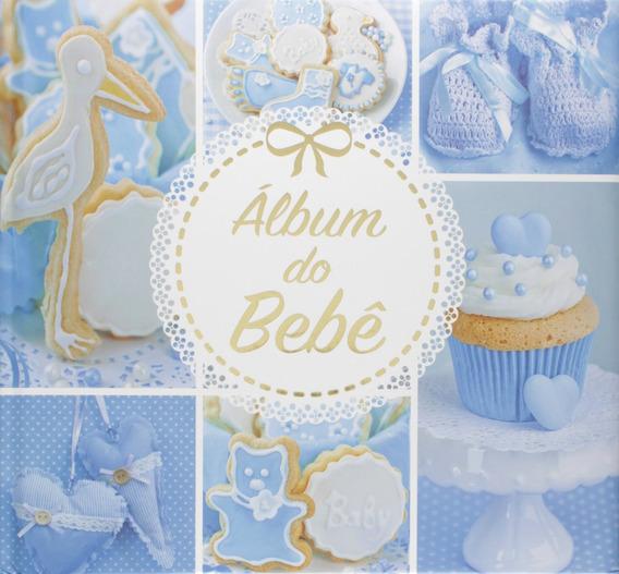 Livro Album Do Bebe - Azul