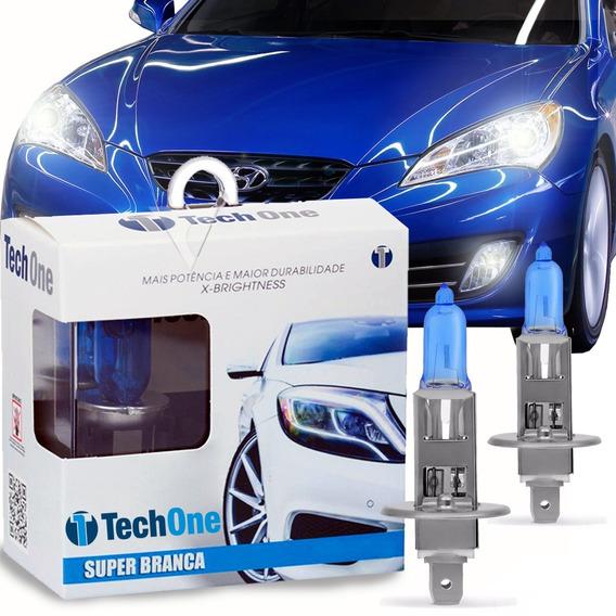 Par Lampada Super Branca 8500k Legítimas Tech One Tipo Xenon