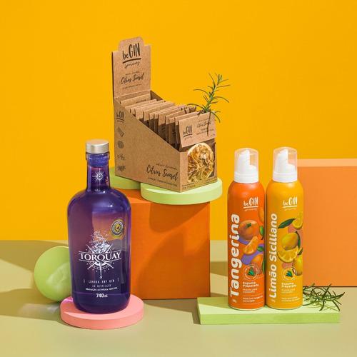 Kit Gin + Box Citrus Especiarias + Espumas Tangerina E Limão