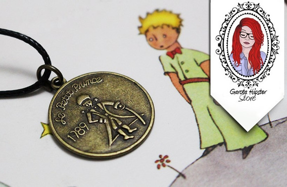 Colar Moeda Medalha Dupla Face Pequeno Principe