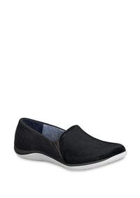 Zapatos Flat Loafer Negro Dr Scholls Dama Tex Udt J36026