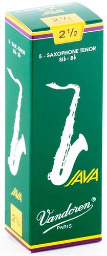 Pack De Cañas Vandoren Java Sr2725 De Saxo Tenor N2.5 X5u