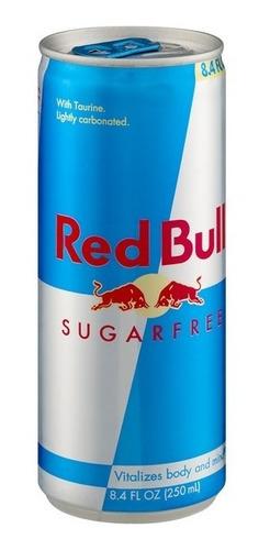 Imagen 1 de 5 de Red Bull Sugar Free 250ml Lata Sin Azucar X 1uni