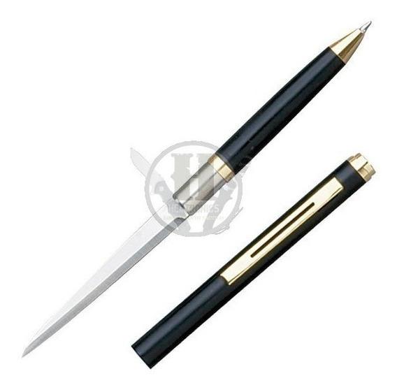 Lapicera Nd Negro Cuchillo Defensa Personal Daga Puñal