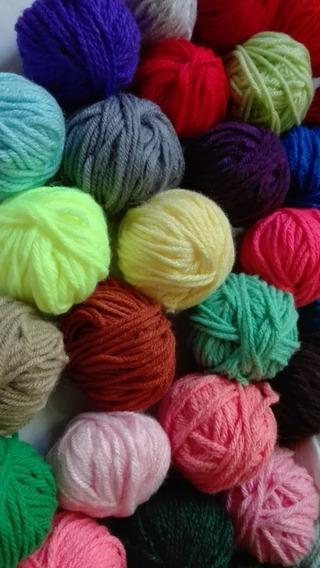 Set 10 Lanas Colores Ovillitos Para Bordado Y Manualidades
