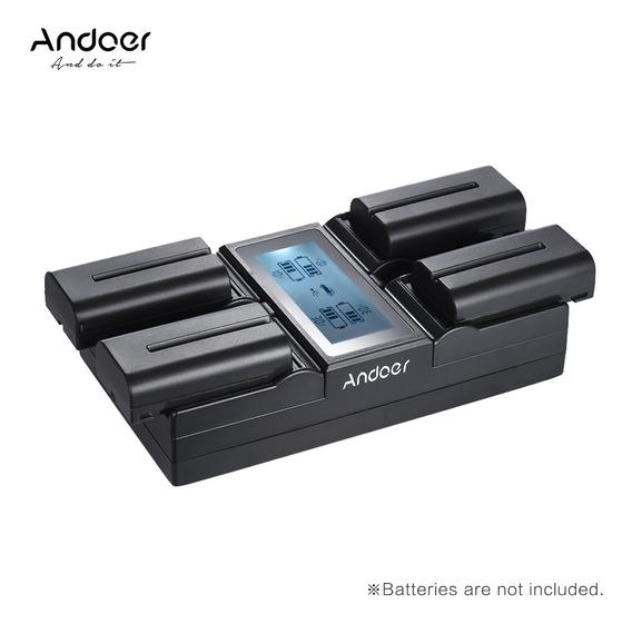 Andoer Np-f970 Carregador De Bateria De Camera Digital De 4