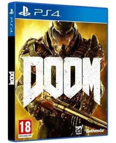 Jogo Doom Ps4 Mídia Física Original Usado