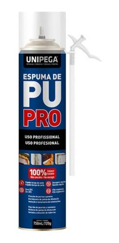 Espuma De Poliuretano Expandido Unipega 750 Cc P/ 7 U.