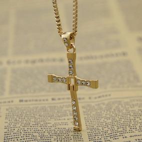 Corrente Cordão Cruz Velozes E Furiosos Banhado A Ouro