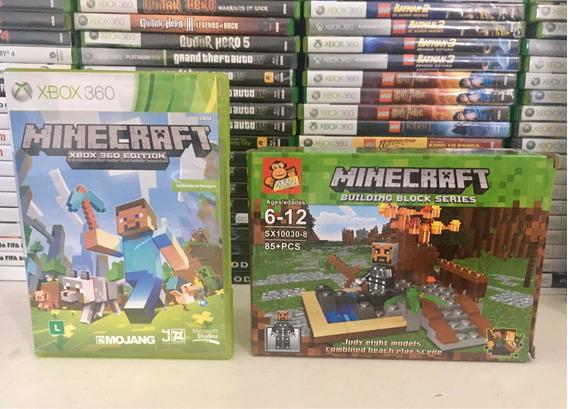 Minecraft Para Xbox 360 Mais Brinde Boneco De Montar