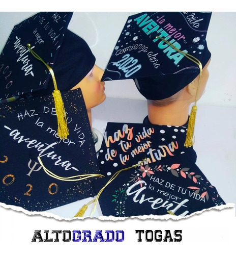 Venta #túgradoencasa Birrete De Graduación Personalizado