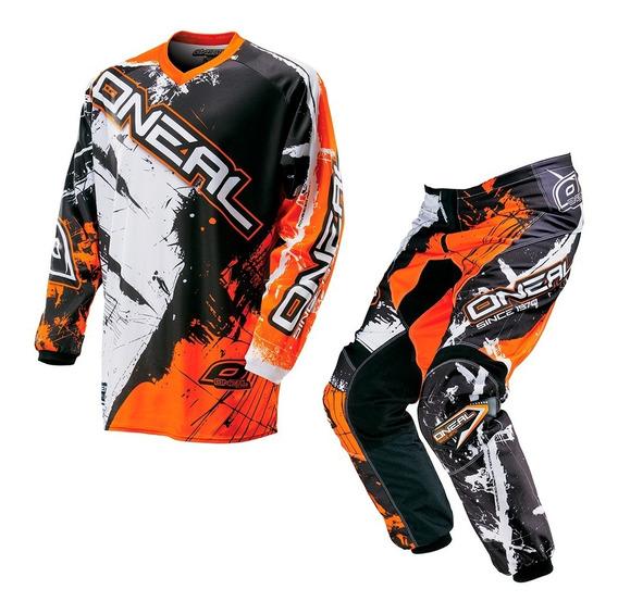 Conjunto Motocross O´neal Element Mx Jersey + Pant Shocker