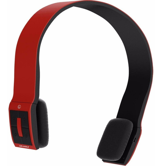 Fone Ouvido Bluetooth Aquarius Headphone Rock In Rio Vermelh