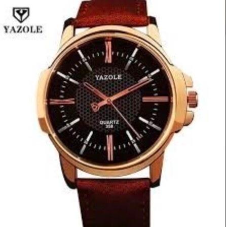Relógios Masculinos De Luxo Social Quartzo Preto Yazole