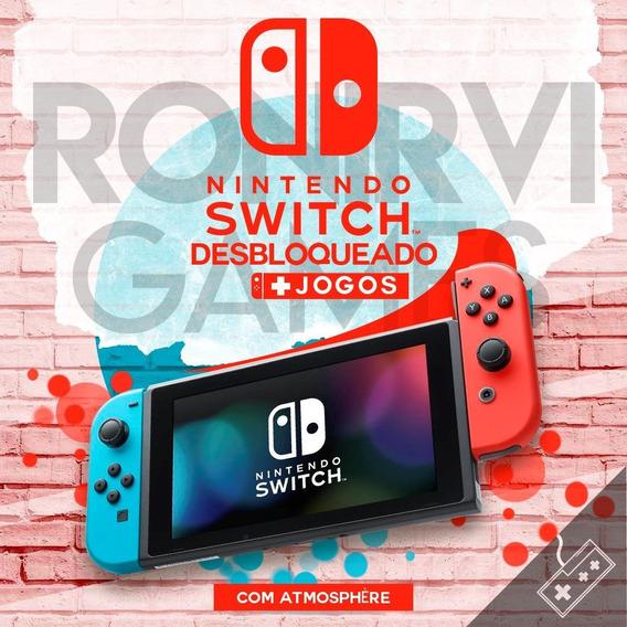 Nintendo Switch Desbloqueado 160gb + Jogos + Suporte