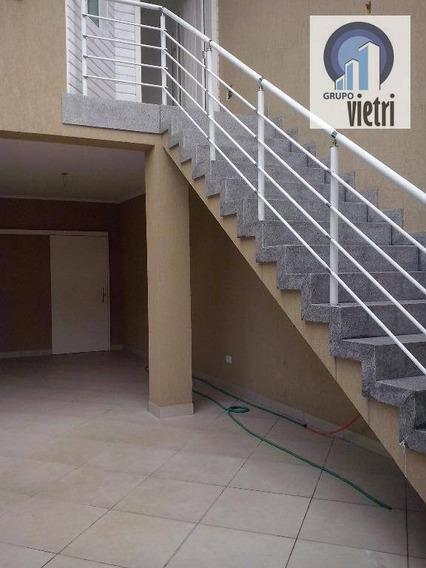 Lindo Sobrado Com 3 Dorms Sendo 3 Suites, Sala, Coze 3 Vagas De Garagens, Na Chacara Inglesa. - So1444
