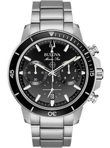 Relógio Bulova Masculino Marine Star 96b272 Aço Prata