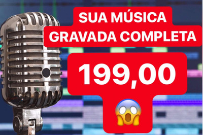 Produção Musical - Grave Sua Música Completa - R$199,00