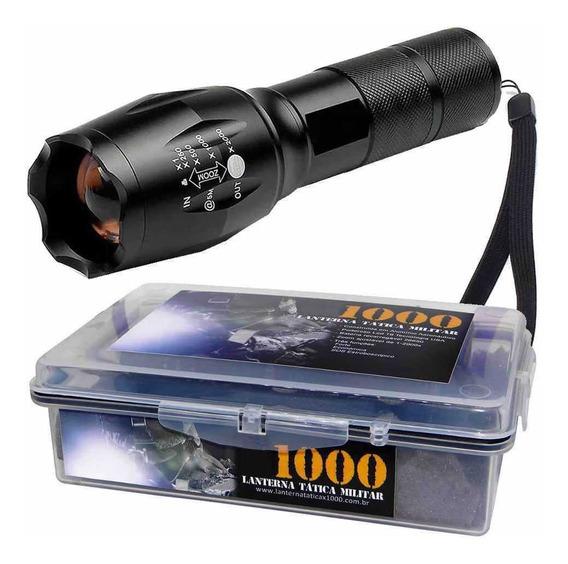 Lanterna Tática Militar Martinelli T6 1000 + Potente + Estoj