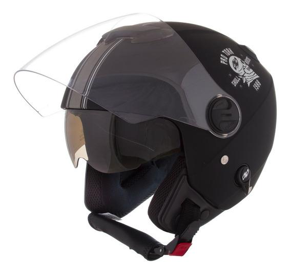 Capacete Moto Custom New Atomic Skull Riders Fosco Pro Tork